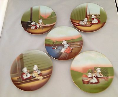 Sun Bonnet Babies Royal Bayreuth 1974 Five Piece Set