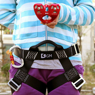 Professional Zipline Harness System for Kid's With Zip line Pulley and Carabiner