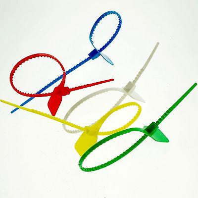 (50)360mm Plastic Lead/Label Ribbon/Seal Used Tanker Seal/Container Five colours