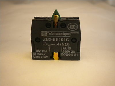Telemechanique Contact Block For Pushbuttons  & Switch Normally Open Zb2-Be101C