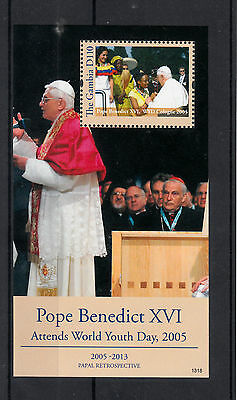 Gambia 2013 MNH Papal Retrospective Pope Benedict XVI World Youth Day 1v S/S