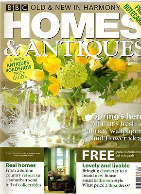 HOMES AND ANTIQUES MAGAZINE - April 2000