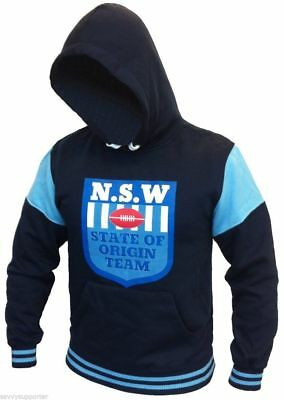 NSW Blues State of Origin Mens Heritage Hoodie 'Select Size' S-5XL BNWT4 NRL