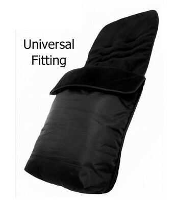NEW MY CHILD FLEECE 2 IN 1 ZIP FOOTMUFF COSYTOES All BLACK UNIVERSAL FITTING