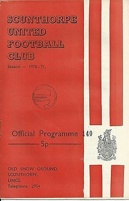 SCUNTHORPE UNTED v CREWE ALEXANDRA ~ 6 MARCH 1971