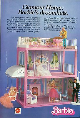 Original magazine Advert. of the 80s - Barbie Glamour Home - A4
