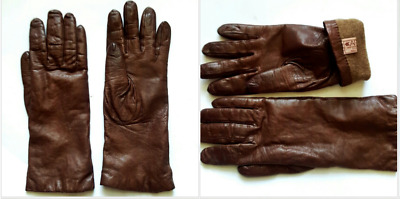 "VINTAGE WEAR RIGHT KIDSKIN Leather Gloves 11"" to 15""L SZ:7 , 7.5"