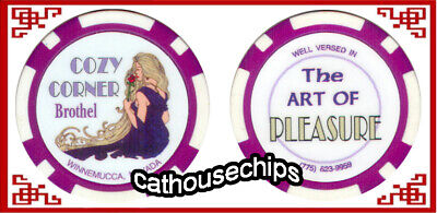 COZY CORNER Brothel Winnemucca NV Legal Cathouse  Whorehouse Token chip