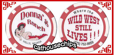 Donna's Ranch Wells, Legal Nevada Brothel Collectors Chip Cathouse Whore House