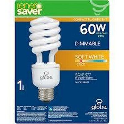 2X Enersaver Compact Fluorescent Dimmable 15W