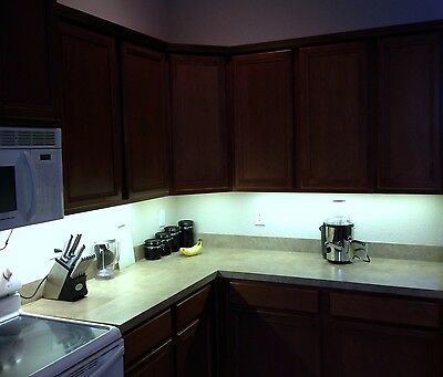 Kitchen Under Cabinet Professional Lighting Kit COOL WHITE LED Strip Tape Light