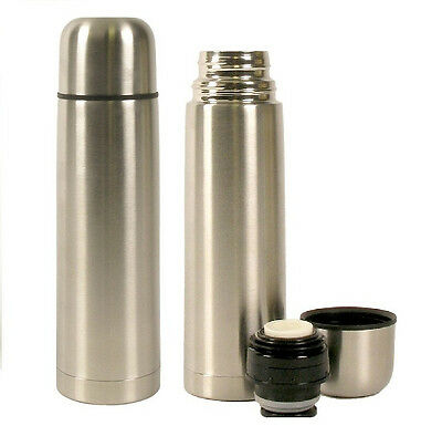 Lot of 2 Vacuum Stainless Steel Insulated Double Wall Coffee Bottle Flask 16 oz