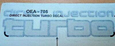 Toyota Landcruiser 80 Series 4Wd Direct Injection Turbo Decal Rear - New Genuine