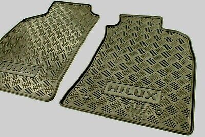 Toyota Hilux Rubber Floor Mats Front Pair Feb 05 - Sept 11 New Genuine Accessory