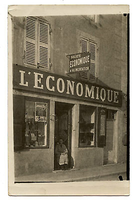 Carte Photo Metier Commerce L'economique Boutique Alimentation