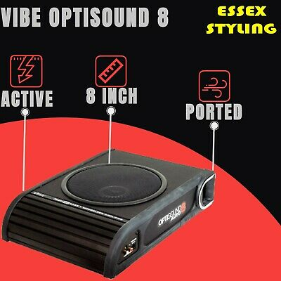 VIBE LiteAir Optisound Auto 8 Amplified Car Subwoofer - New V2 version 900w