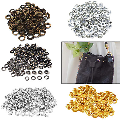 100 x 4mm Eyelets & Washers in White, Gun Metal, Gold, Silver or Bronzes - UK