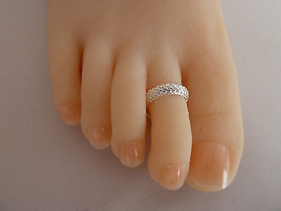 2x 925 Sterling Silver (plated) Toe Ring, ALLERGY FREE. For 2 items