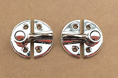 2 Chrome Gravelly Fastener Complete Trailer Horsebox Coach Bus Lorry Caravan van