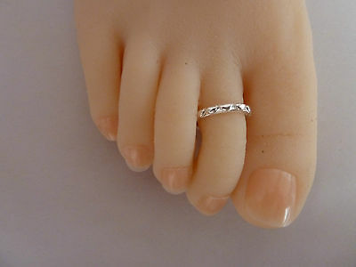 2x 'HEARTS' Sterling Silver plated Toe Ring, ALLERGY FREE. 2x items