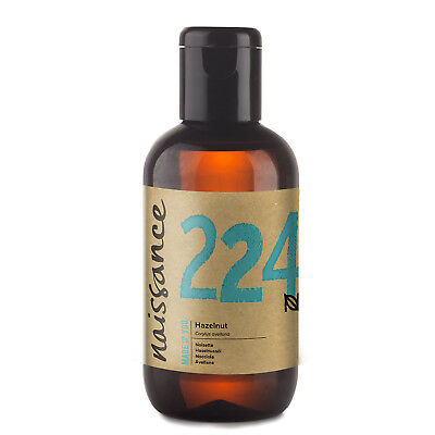 Naissance Hazelnut Carrier Oil  Known to help with Acne and for oily skin types