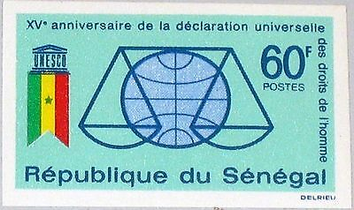SENEGAL 1963 276 U 228 15th Ann Declaration of Human Rights UNESCO Flag MNH