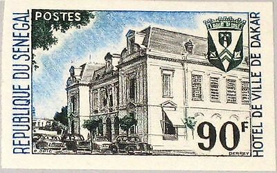 SENEGAL 1967 356 U 289 City Hall & Coat of Arms Rathaus Wappen Dakar MNH