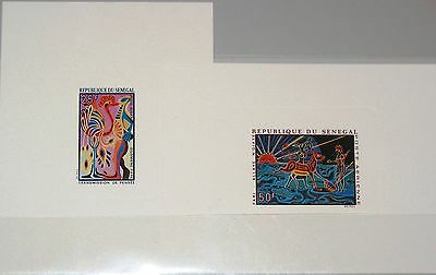 SENEGAL 1969 406-07 C72-73 DELUXE Sheets Wandteppiche Tapestry Art Kunst MNH