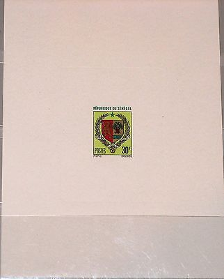SENEGAL 1970 443 336 DELUXE SHEET Coat of Arms Wappen Staatswappen Lion MNH