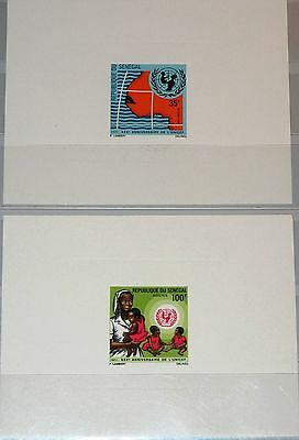 SENEGAL 1971 472-73 352-53 DELUXE Sheets 25th ANN UNICEF Map Norse & Childs MNH
