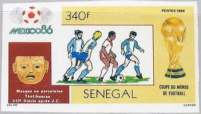 SENEGAL 1986 889 U Intl. World Fair Dakar Messer World Map Weltkarte Karte MNH