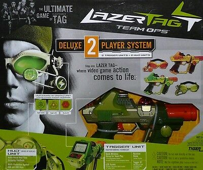 LAZER TAG Team Ops Deluxe 2 Player System... NEW!