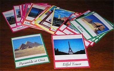 WORLD MONUMENTS LANDMARKS CARDS Continents Montessori
