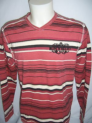 TEE SHIRT Sun Valley manches longues neuf taille  XL coloris rouge-beige-noir