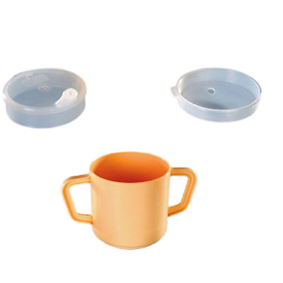 Two Handled Plastic Drinking Cup With Spout And Lid Adult Disability Aids