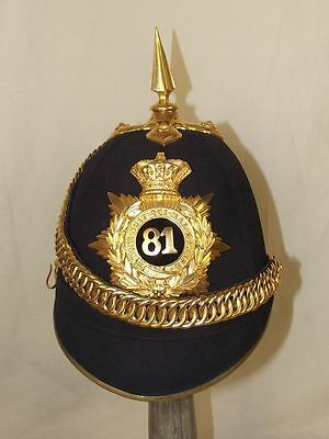 Victorian 81st Loyal Lincoln Volunteers Regiment Officer's Black Cloth Helmet