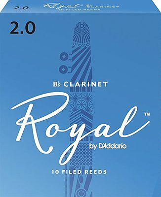 Royal by D'Addario Bb Clarinet Reeds #2 (10-Pack) NEW rcb1020