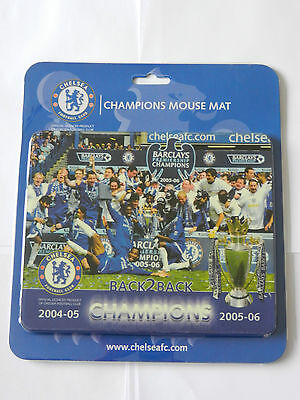Official Chelsea 'back To Back Champions' Collector's Mouse Mat- New
