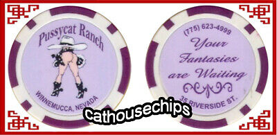 Pussycat Ranch Winnemucca, Legal  Nevada Brothel Collectors Chip ** Cathouse **
