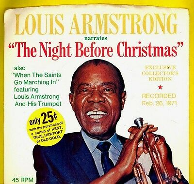Louis Armstrong 45rpm unused in sleeve THE NIGHT BEFORE CHRISTMAS