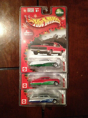 Hotwheels 2005 Holiday Rods Purple Passion Lot of 3 Red White Silver COOL!