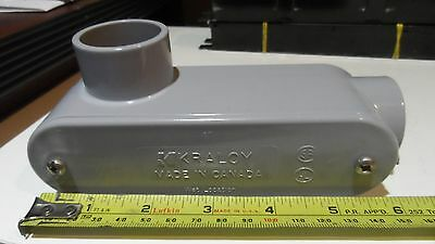 "5) 1"" Kraloy LL10 Access Conduit Body PVC 90 Deg LB Style Fitting Non-Metallic"