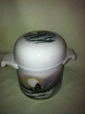 Beautiful Collectible Bone China Shaving Cup or Condiment Jar by Shaklee