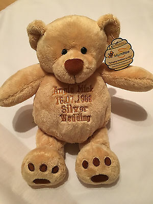 Personalised Embroidered Mumbles Zippie Teddy Bear 42 cm