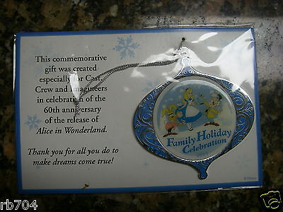 2011 WDW Disney Holiday Celebration 60th Anniversary of Alice in Wonderland CAST