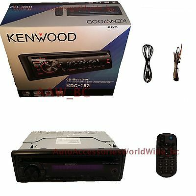 Kenwood KDC-152 In-Dash Car Stereo CD Player AM/FM Radio Receiver + AuxCable