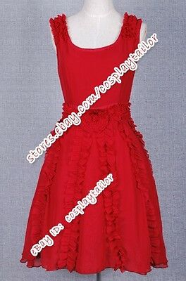 Harry Potter and the Deathly Hallows Hermione Granger Red Costume Dress Elegant