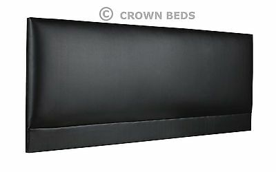 ROMA FAUX LEATHER HEADBOARD BEST ON EBAY. 2ft6,3ft,4ft,4ft6,5ft,6ft FROM £13.99