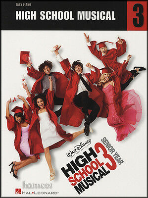 High School Musical 3 Easy Piano Sheet Music Book