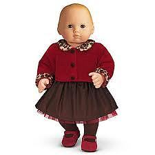 Retired American Girl Bitty Baby Twin's Chocolate Cherry Outfit 2pc Top & Skirt